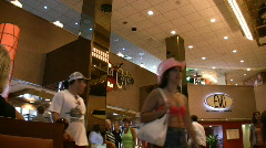 People entering Trump Plaza Stock Footage