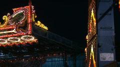 Amusement Park rides Stock Footage