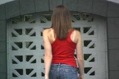 Beautiful Brunette Walking Onstage (2) Stock Footage
