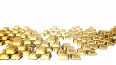 Gold bars (bright1) Stock Footage
