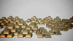 Gold bars (ving1 diffusion) Stock Footage