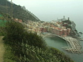 Stock Video Footage of vernazza from trail