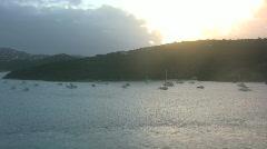Caribbean island scenery Stock Footage