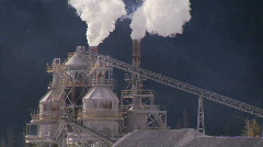 Cement Plant 3 Stock Footage