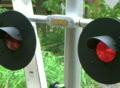 Flashing Railroad Crossing Signal Footage