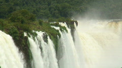 HD: Iguazu Falls with tropical forest. Stock Footage
