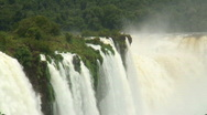 Stock Video Footage of HD: Iguazu Falls with tropical forest.