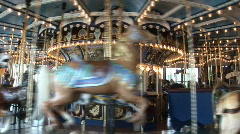 Old time carousel Stock Footage