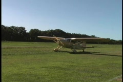 Antique Airplanes Stock Footage