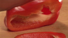 Studio shot of Peppers - Panning Stock Footage