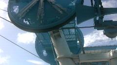 Industrial lift wheel Stock Footage