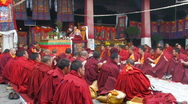 Stock Video Footage of Buddhist monks inside Jokhang Temple, Tibet