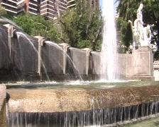 Historic fountain Stock Footage
