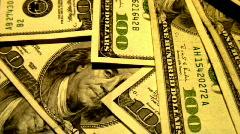 100 dollar bills (bright 1)   on table 1 Stock Footage