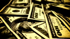 100 dollar bills (rack focus) harsh bright hc Stock Footage