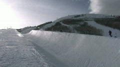 Park City UT snow half pipe 25p HD Stock Footage