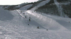 Park City UT pipe fast 25p HD - stock footage