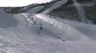 Park City UT pipe fast 25p HD Stock Footage