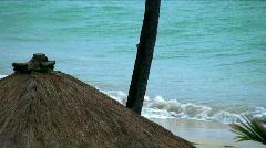 Coconut hut on Maui Beach Stock Footage