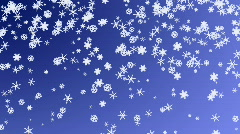 Snow flakes falling from the sky Stock Footage