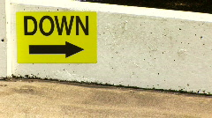 Down ramp Stock Footage