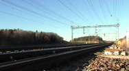 Train in motion Stock Footage