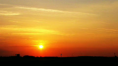Warm sunset timelapse clip Stock Footage