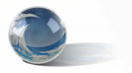 Stock Video Footage of Time lapse crystal ball