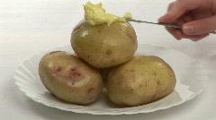 Studio shot of Potatoes Stock Footage