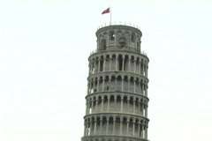 Leaning Tower of Pisa Stock Footage