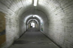 Old Italian Tunnel Stock Footage
