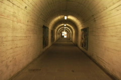 Bumpy tunnel in Italy Stock Footage