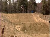 Stock Video Footage of Motocross Jump 4 Bikes