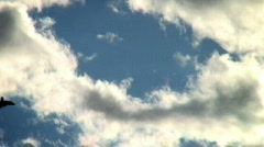 Airplane artistic () fly into the sun Stock Footage