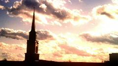 Nice sunset church (S_mod) Stock Footage