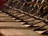 Stock Video Footage of Motocross Start Gate