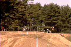 Motocross Table Top Jump - stock footage