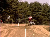 Stock Video Footage of Motocross Table Top Jump