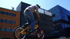 Fast Motion BMX Line Stock Footage