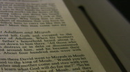 Holy bible slow pan in 1080HD. Stock Footage