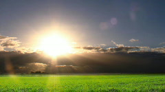Time lapse of sunset storm clouds Stock Footage