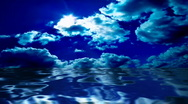 Stock Video Footage of Clouds and water reflections