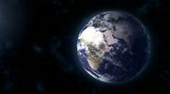 Realistic Earth BG focus EU   Africa Stock Footage