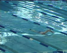 Freestyle swimmer Stock Footage