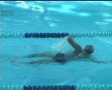 Crawl swimmer Stock Footage