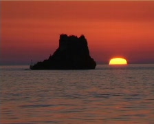 Red sunset C001 Stock Footage