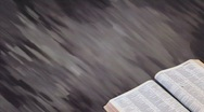 Bible with Motion Background 02 Stock Footage