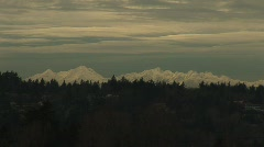 Seattle  WA - Olympic Mountains Stock Footage