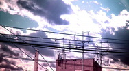 Stock Video Footage of MK powerlines (dreamscape)