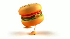 Hamburger - stock footage